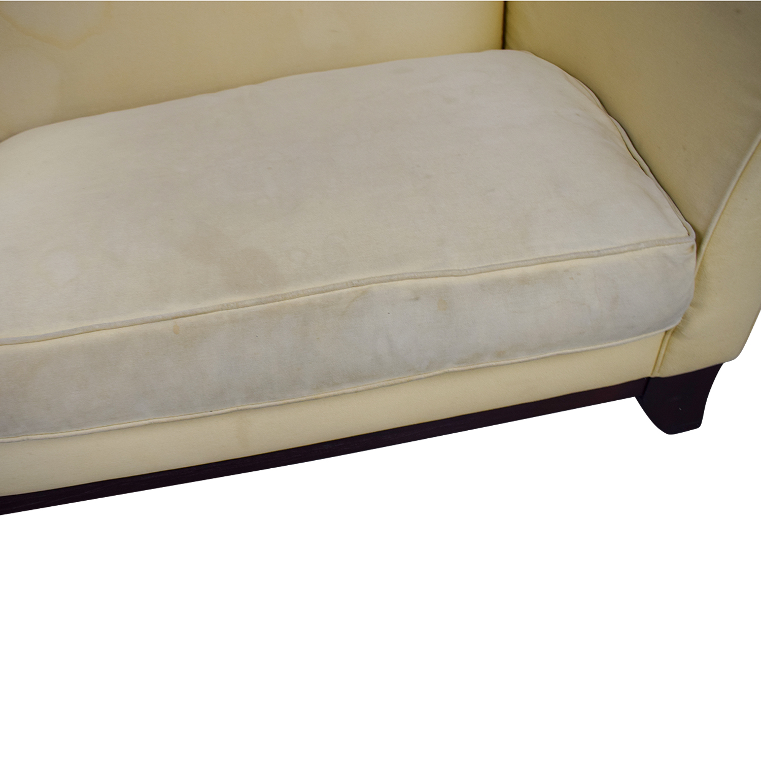 shop Pottery Barn Pottery Barn Beige Upholstered Two-Cushion Sofa online