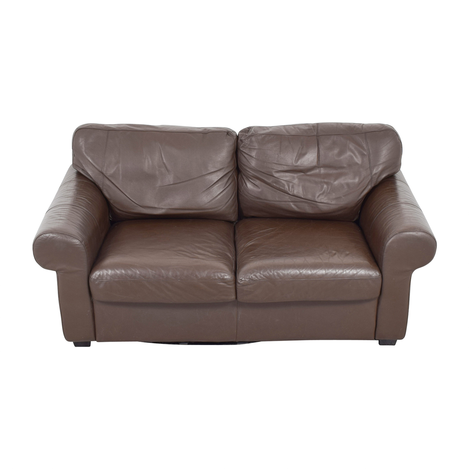 Fabulous 72 Off Ikea Ikea Timsfors Leather Brown Loveseat Sofas Onthecornerstone Fun Painted Chair Ideas Images Onthecornerstoneorg