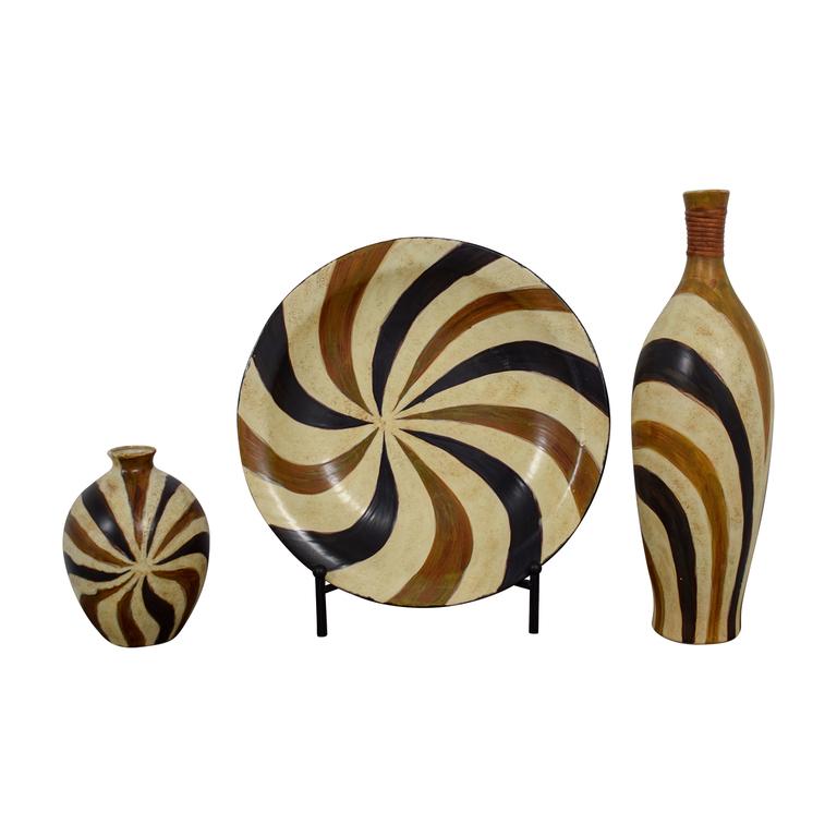 shop HomeGoods HomeGoods Earth Toned Ceramic Plate and Vases online