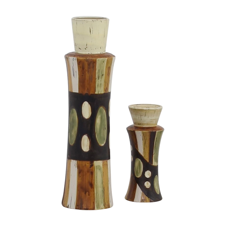 buy HomeGoods Ceramic Vase and Pillar Candle Holder HomeGoods Decor