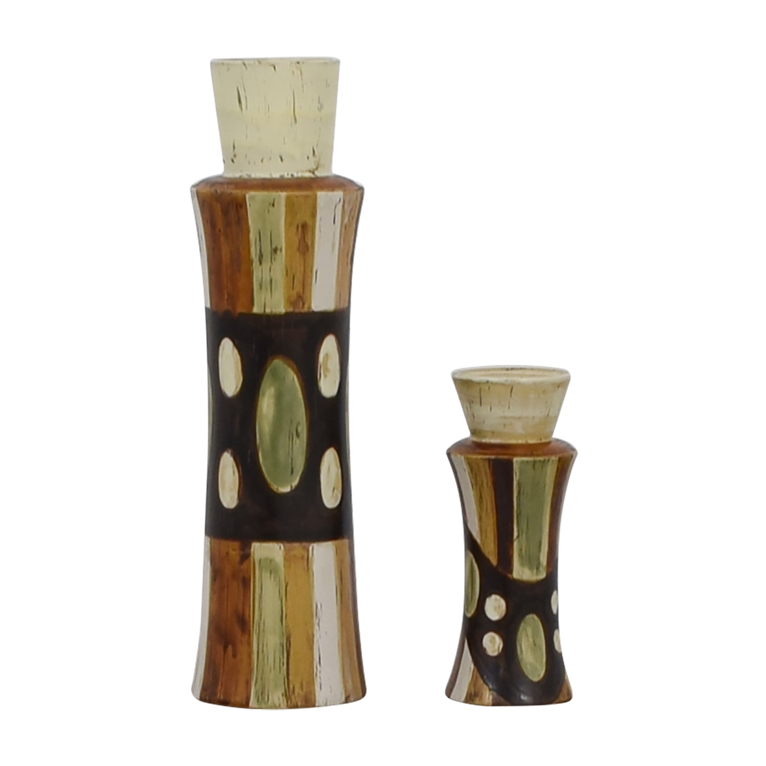 HomeGoods Ceramic Vase and Pillar Candle Holder / Decorative Accents
