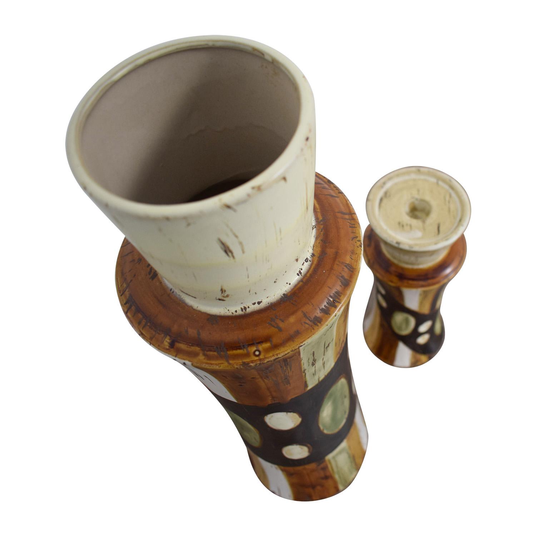 HomeGoods HomeGoods Ceramic Vase and Pillar Candle Holder on sale