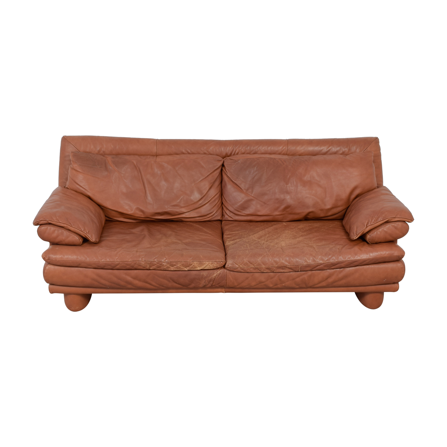 Maurice Villency Maurice Villency Brown Leather Sofa on sale