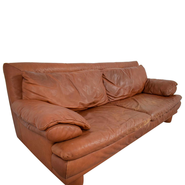 shop Maurice Villency Maurice Villency Brown Leather Sofa online