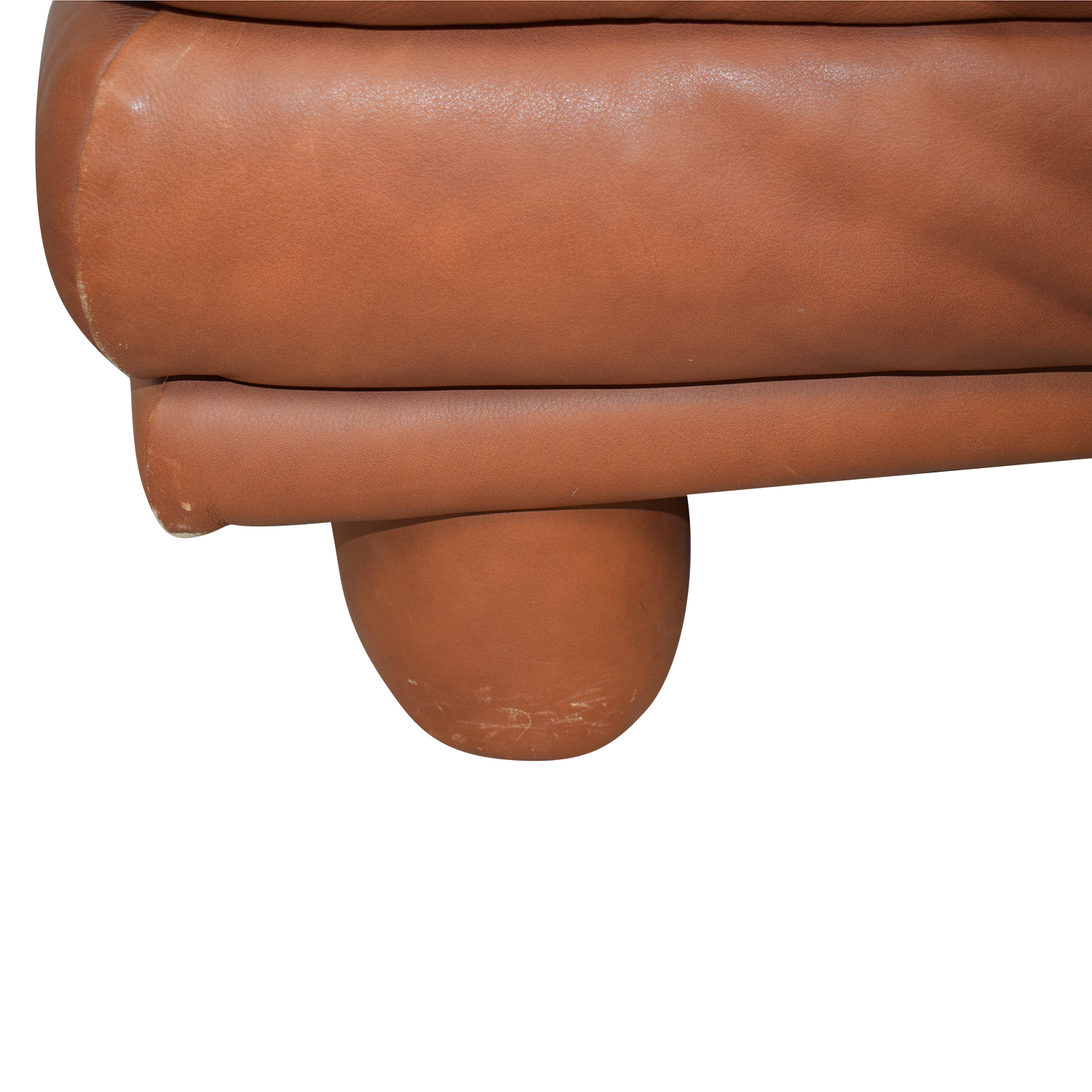 Maurice Villency Brown Leather Sofa / Sofas