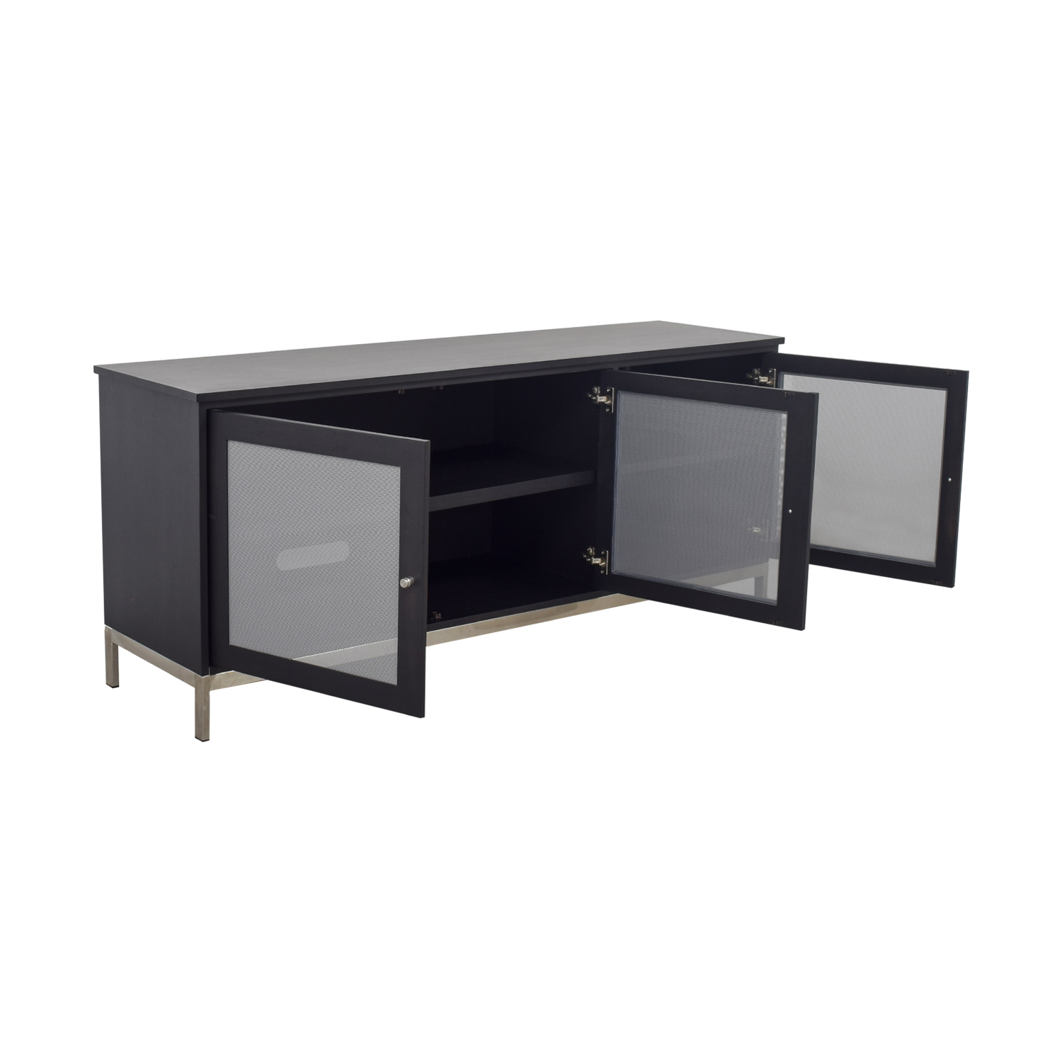 Room & Board Room & Board Linear Black and Grey Media Cabinet for sale