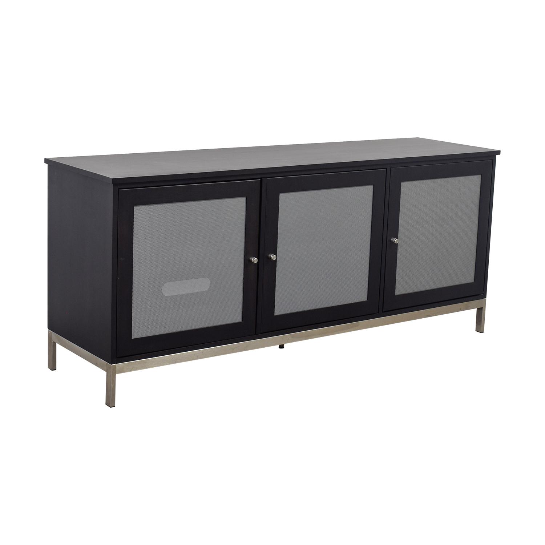 buy Room & Board Linear Black and Grey Media Cabinet Room & Board Media Units