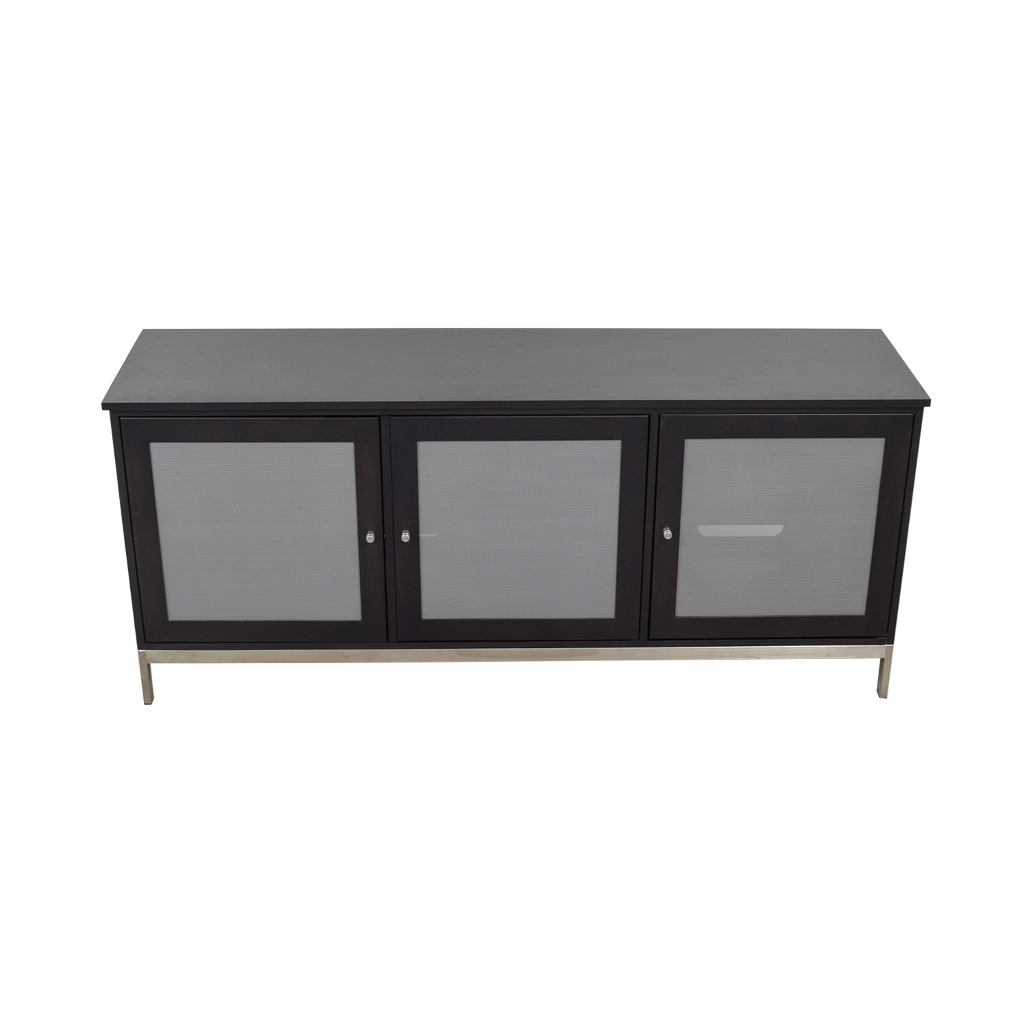 shop Room & Board Linear Black and Grey Media Cabinet Room & Board Media Units