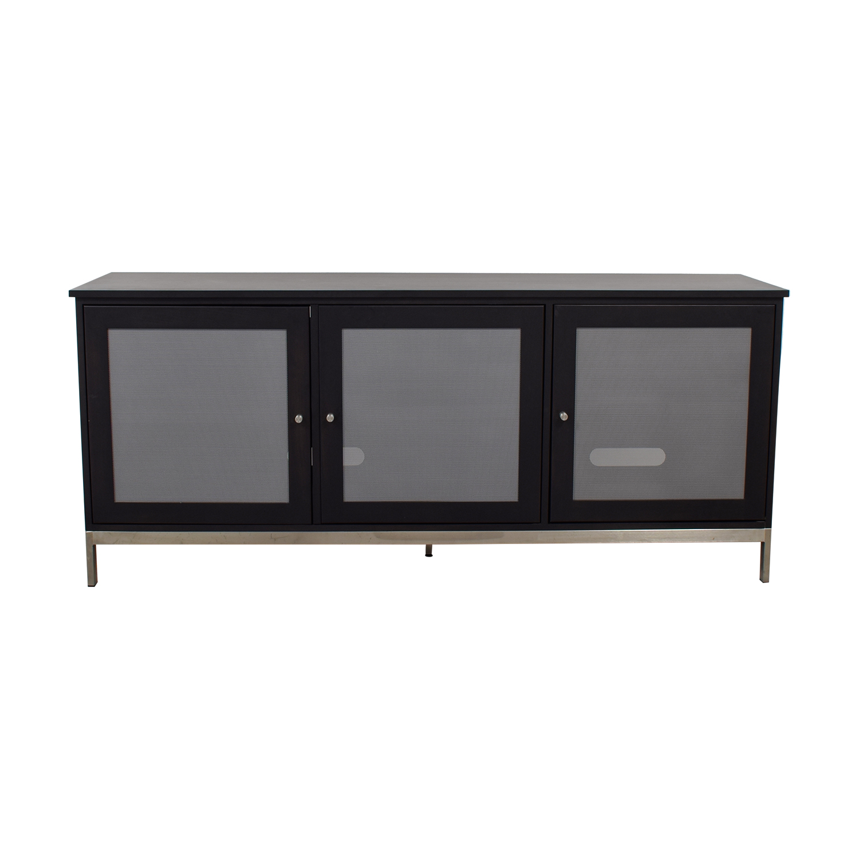 Room & Board Room & Board Linear Black and Grey Media Cabinet