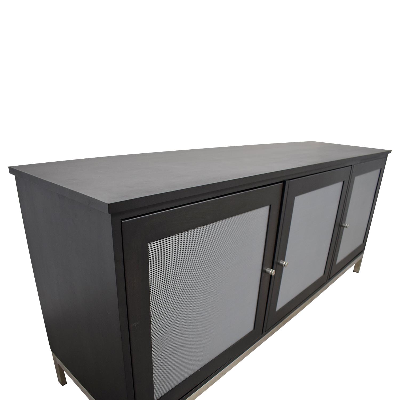 buy Room & Board Room & Board Linear Black and Grey Media Cabinet online