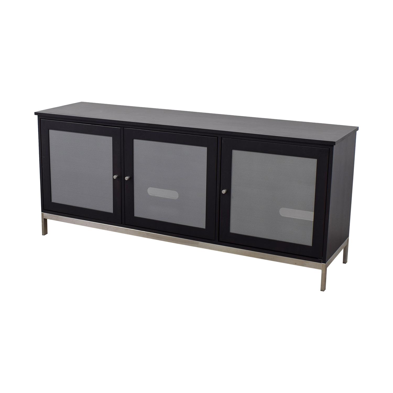 Room & Board Room & Board Linear Black and Grey Media Cabinet discount