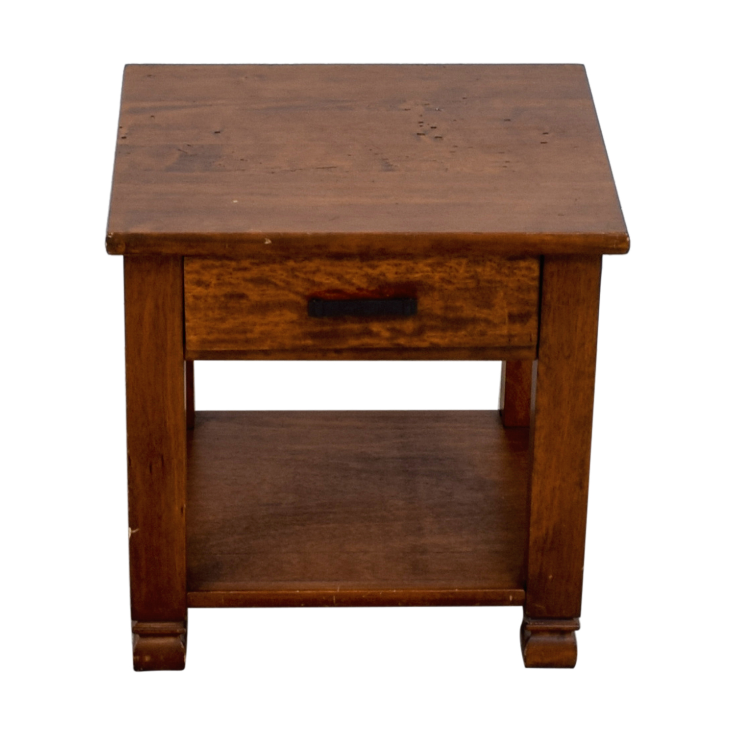 shop Pottery Barn Single Drawer Wood End Table Pottery Barn End Tables