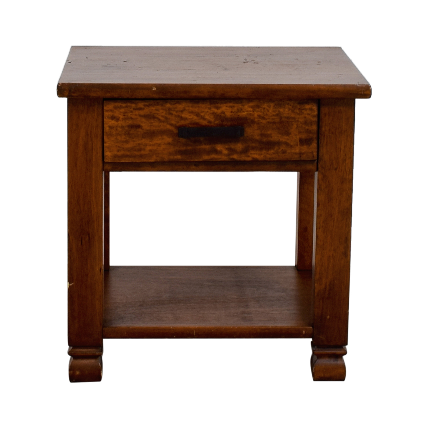 Pottery Barn Pottery Barn Single Drawer Wood End Table for sale