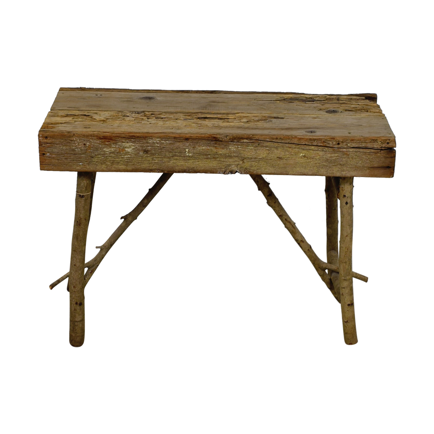 Rustic Wood Accent Table second hand