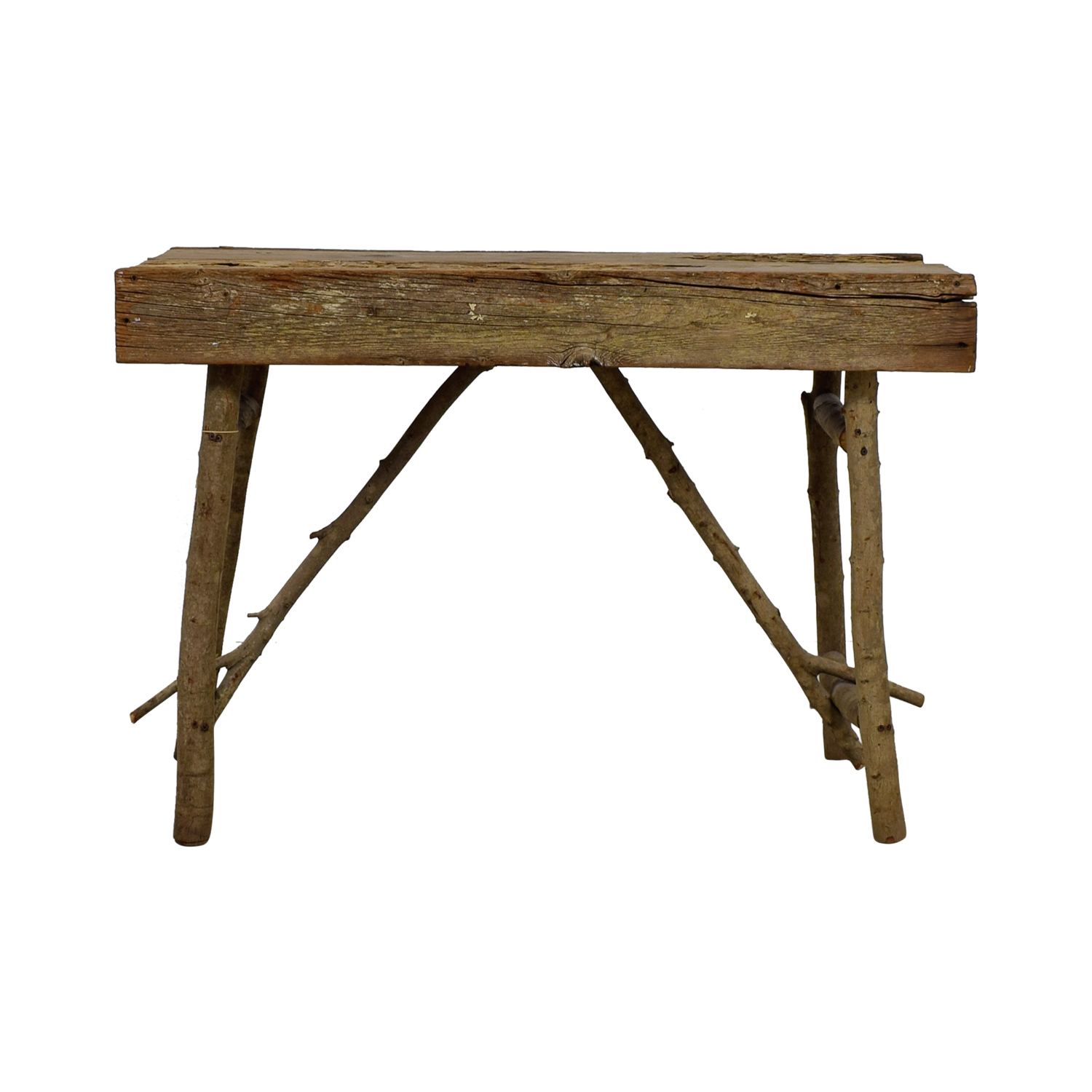 Rustic Wood Accent Table for sale
