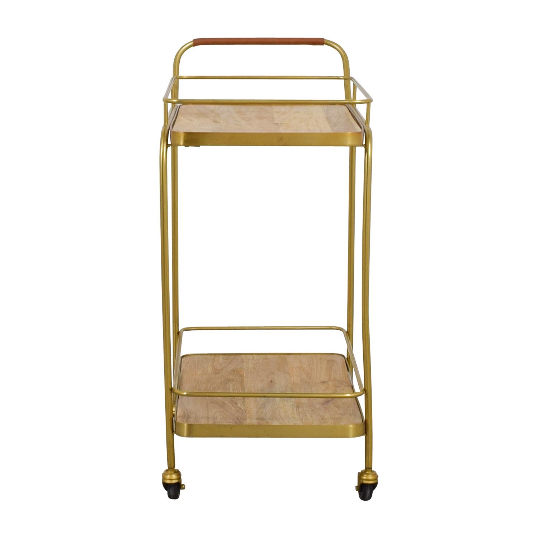 Beech and Bronze Bar Cart discount