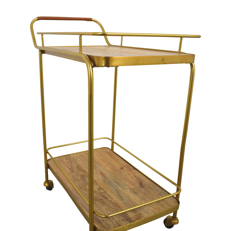 Beech and Bronze Bar Cart sale