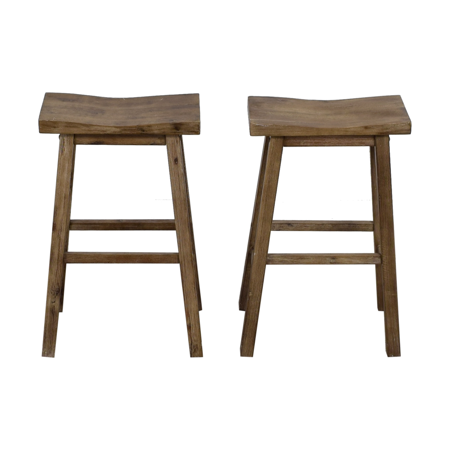 Distressed Taupe Stools second hand