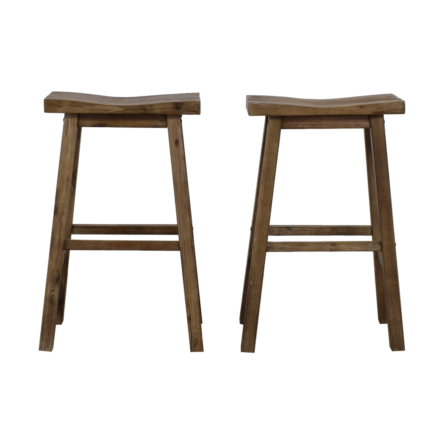 Distressed Taupe Stools nj