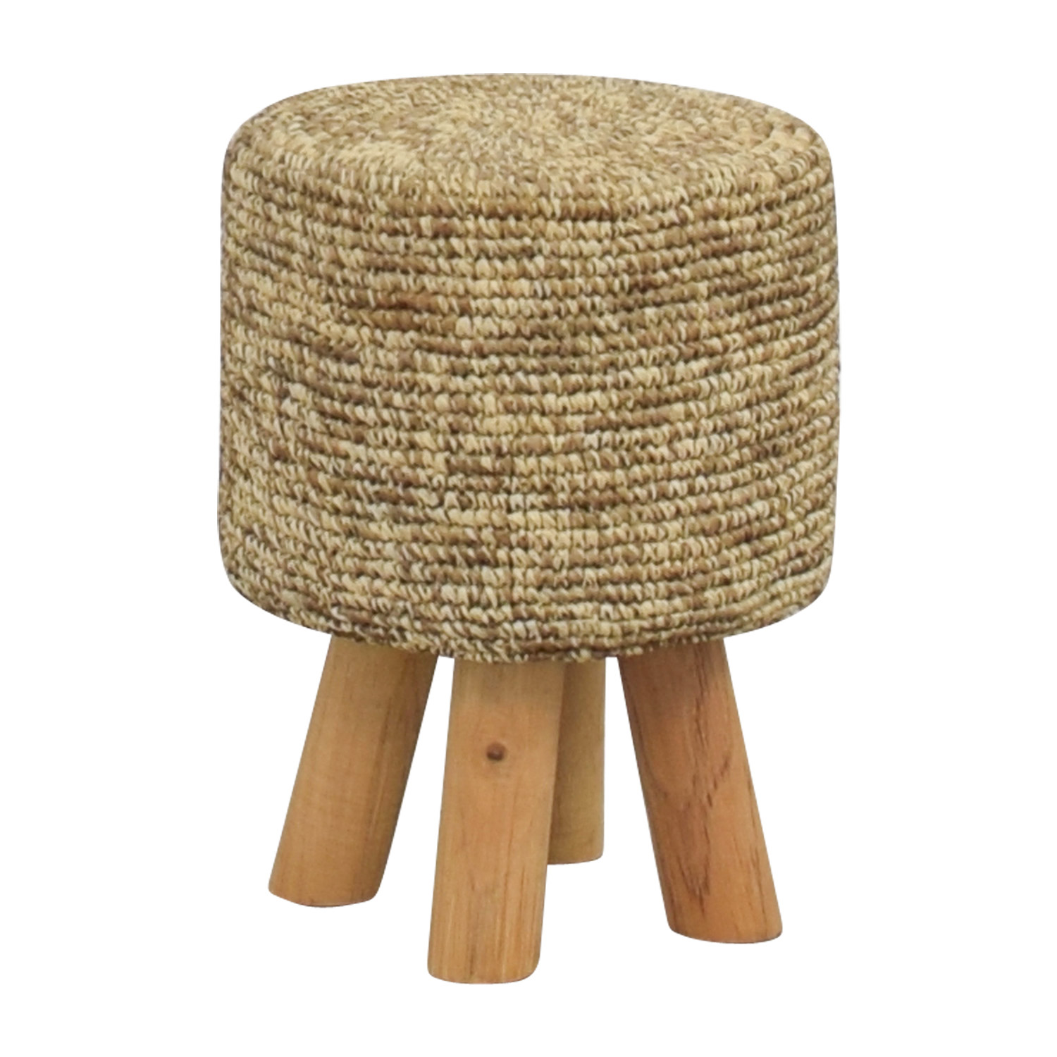 ... Chairs; Wool And Wood Short Stool On Sale ...