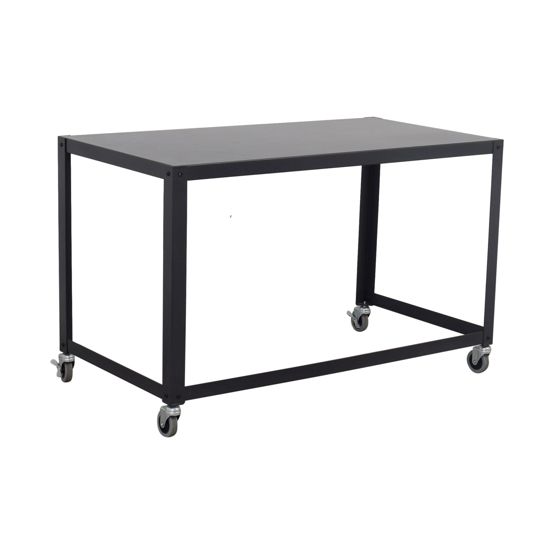 buy CB2 Go-Cart Rolling Desk CB2 Home Office Desks