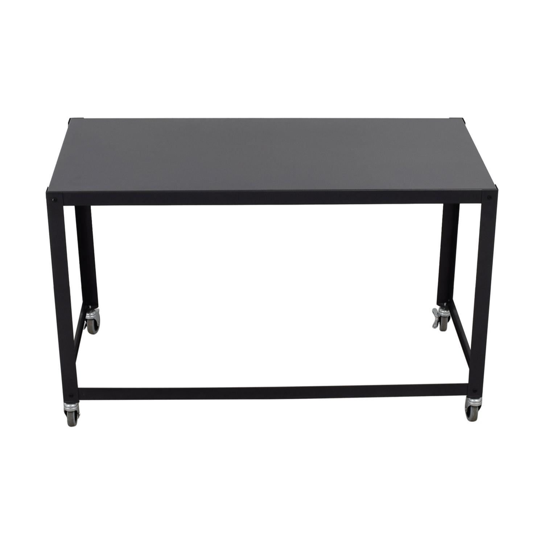CB2 CB2 Go-Cart Rolling Desk dimensions