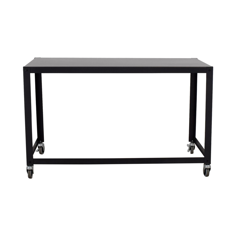 shop CB2 Go-Cart Rolling Desk CB2 Tables