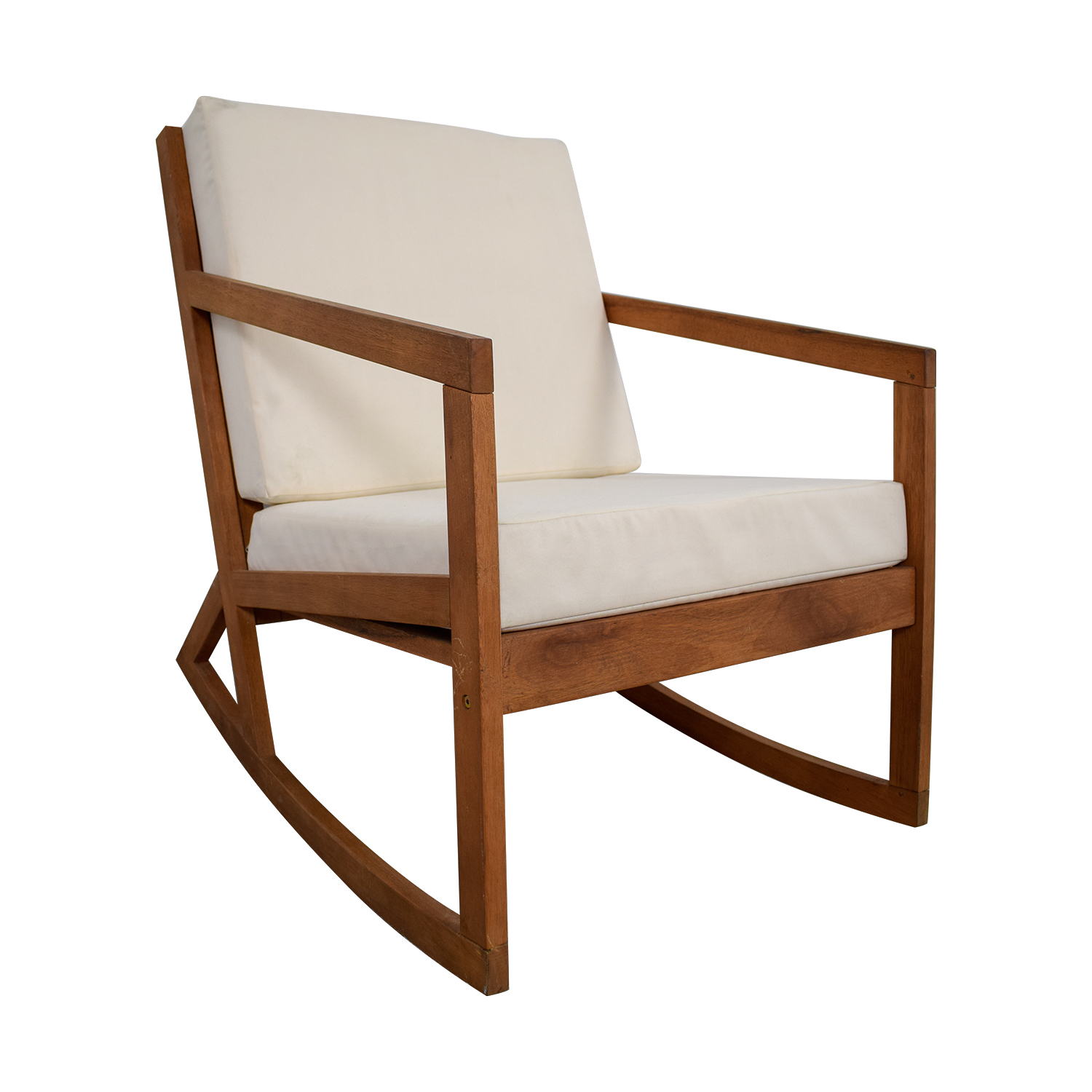 Safavieh White Upholstered Wood Rocking Chair sale