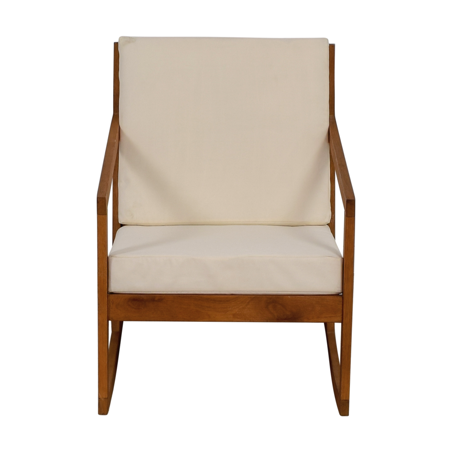 ... Safavieh Safavieh White Upholstered Wood Rocking Chair For Sale ...