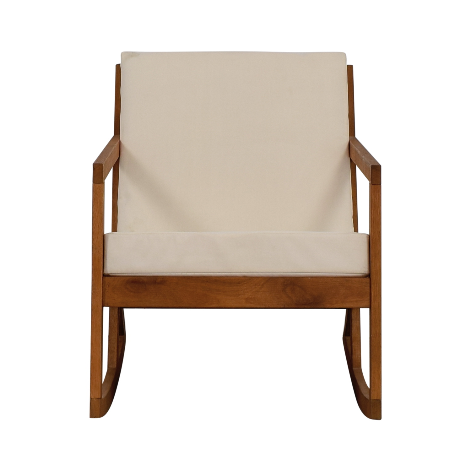 shop Safavieh White Upholstered Wood Rocking Chair Safavieh