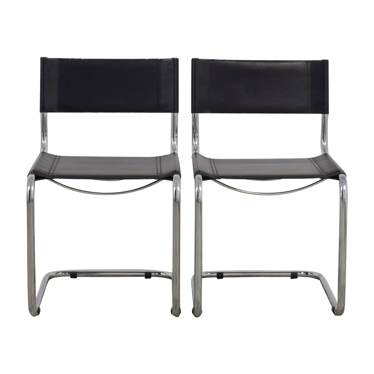 Sabrina Black Leather Dining Chairs / Dining Chairs