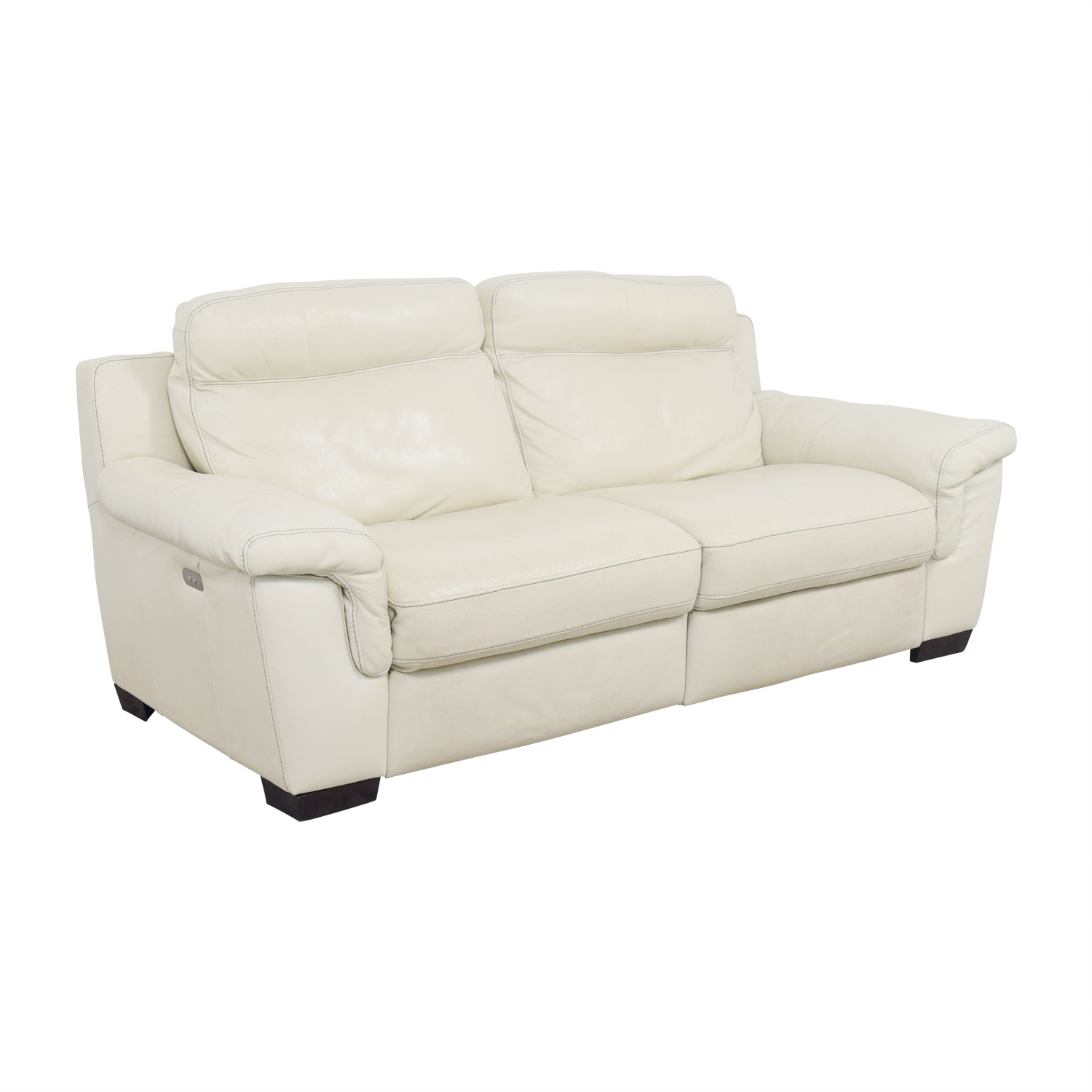 69% OFF - Macy\'s Macy\'s Off White Leather Recliner Sofa / Chairs