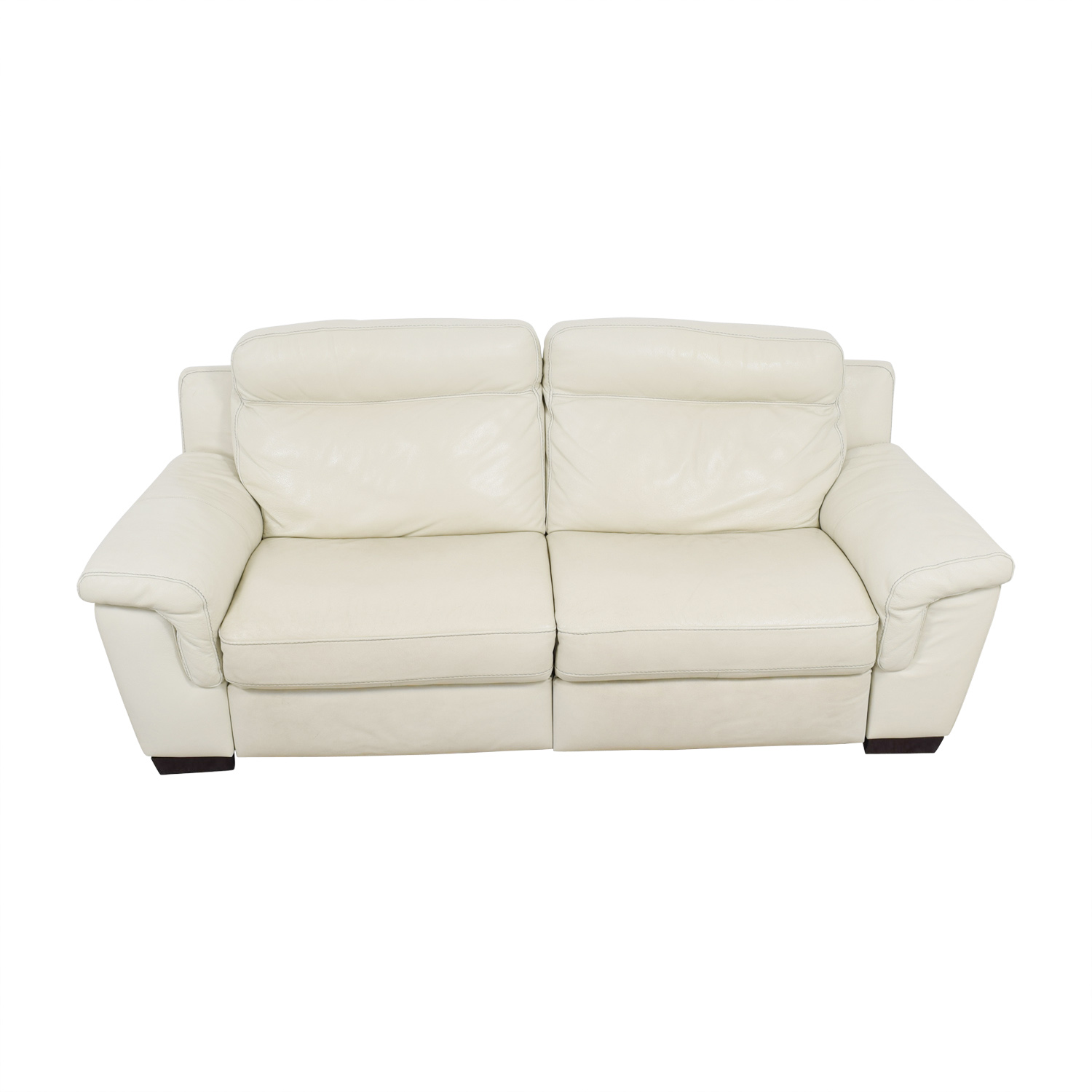 69 Off Macy S White Leather Recliner Sofa Chairs