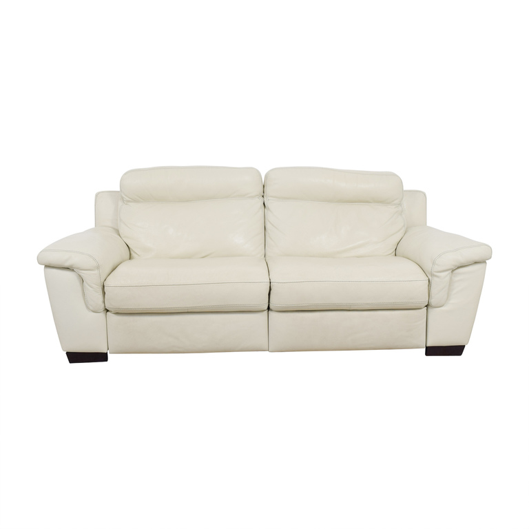 buy Macy's Off White Leather Recliner Sofa Macy's