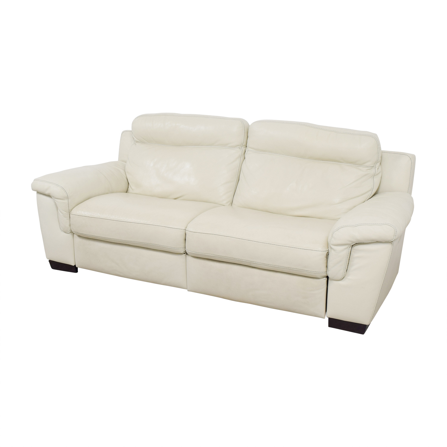 Exceptionnel 69% OFF   Macyu0027s Macyu0027s Off White Leather Recliner Sofa / Chairs