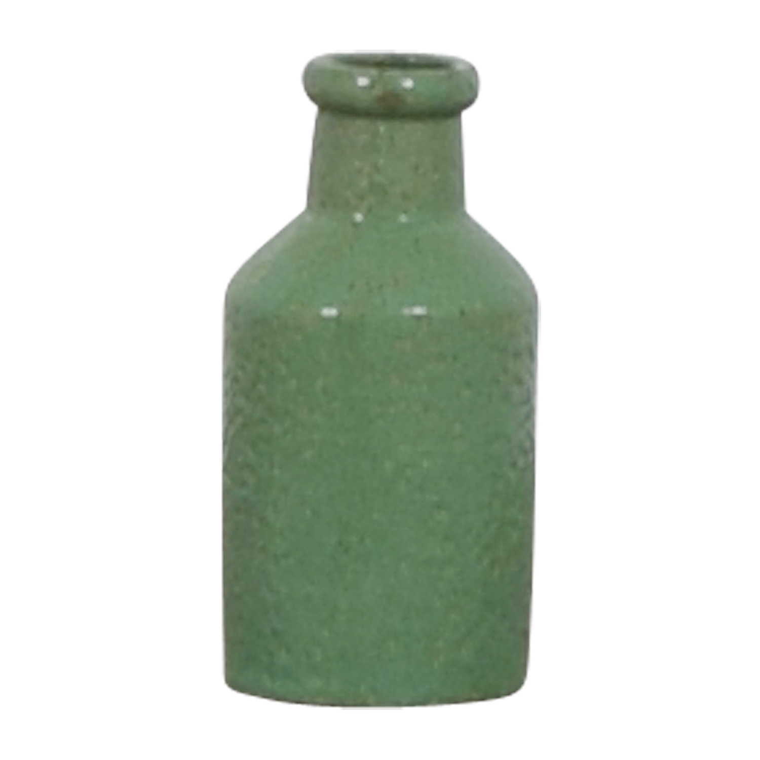 Green Ceramic Bottle Decorative Accents