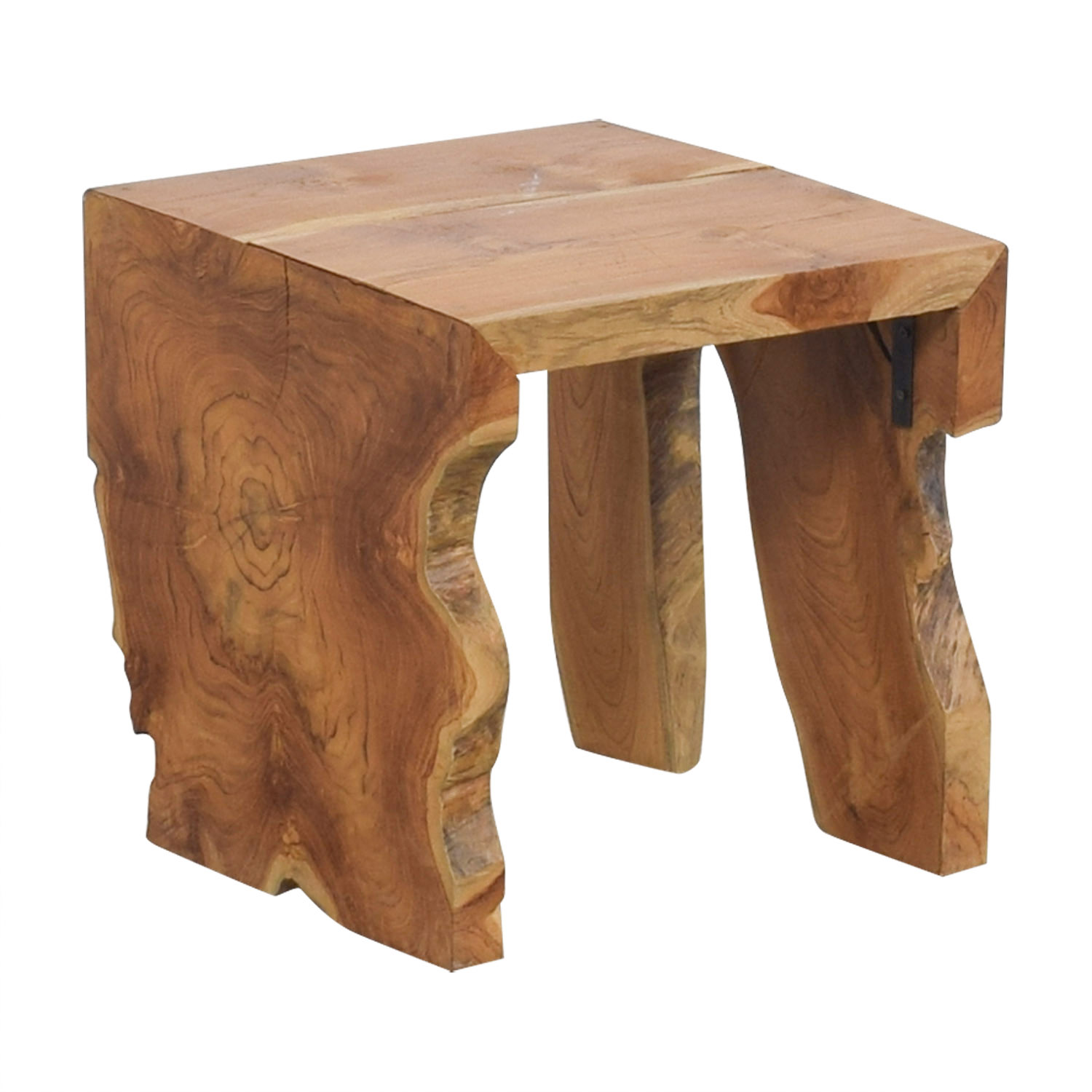 55% OFF - Teak Wood Side Table / Tables