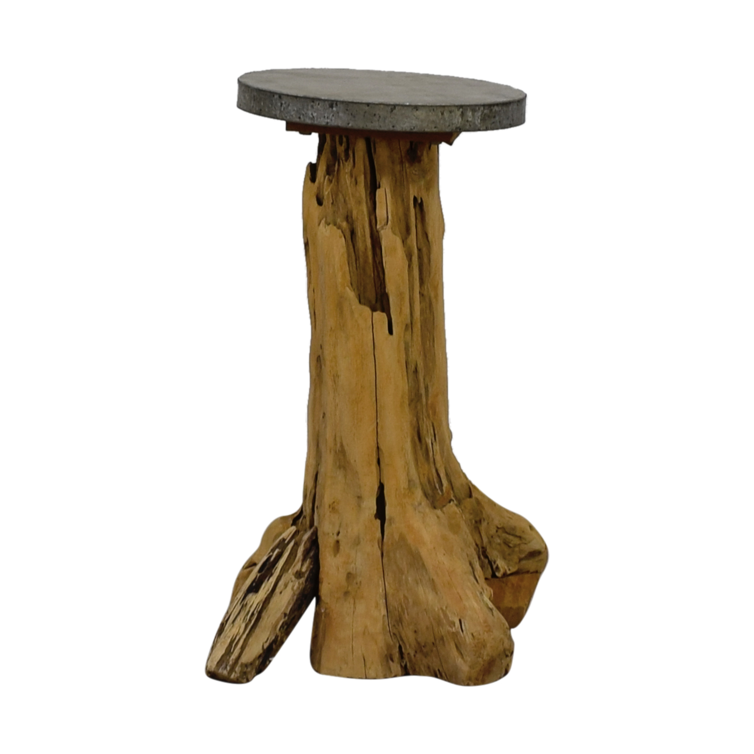 Beech Wood Trunk Side Table discount