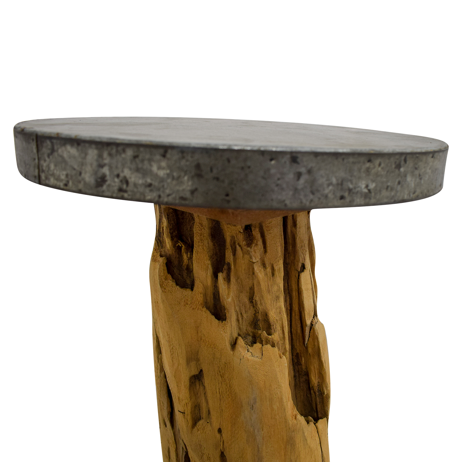 buy Beech Wood Trunk Side Table  End Tables