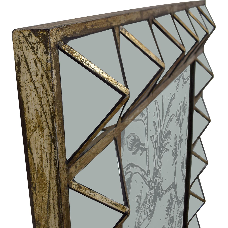 74% OFF - HomeGoods HomeGoods Etched Decorative Mirror / Tables