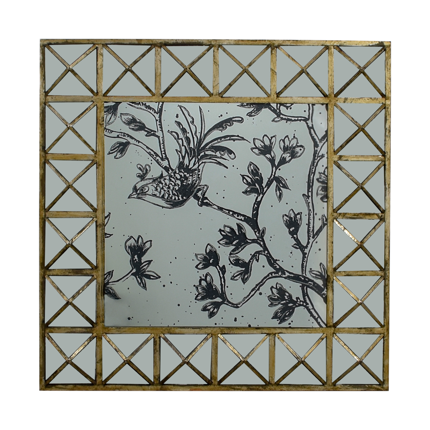 HomeGoods Etched Decorative Mirror / Tables