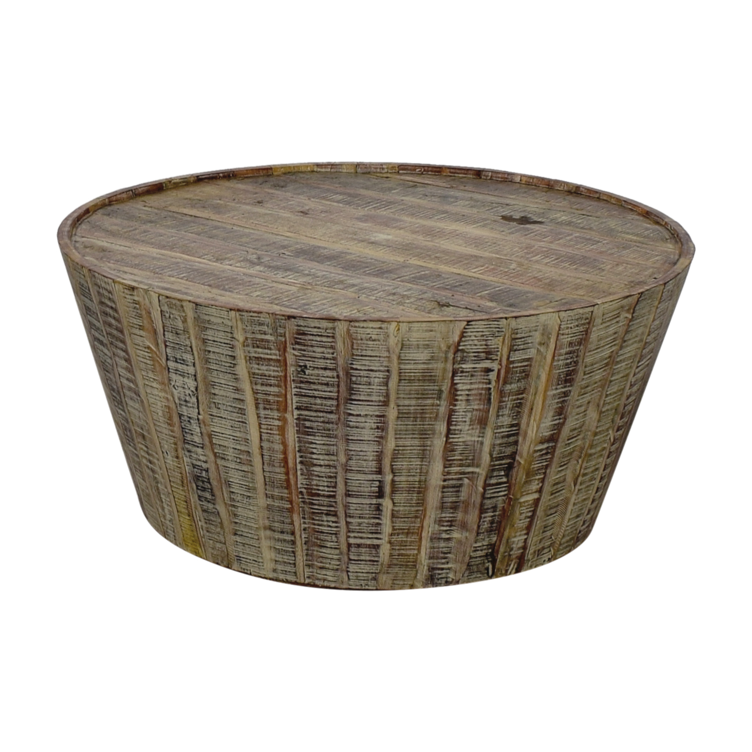 Rustic Round Wooden Coffee Table: West Elm West Elm Rustic Beech Wood Round Coffee
