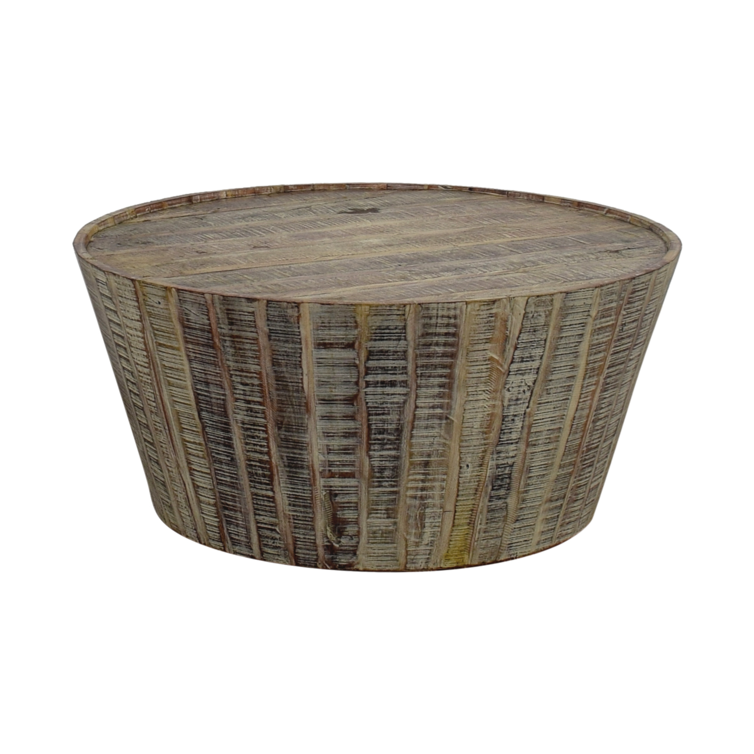 74 OFF West Elm West Elm Rustic Beech Wood Round Coffee Table
