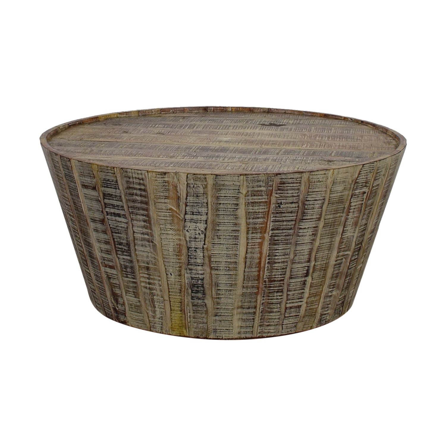 shop West Elm Rustic Beech Wood Round Coffee Table West Elm Coffee Tables