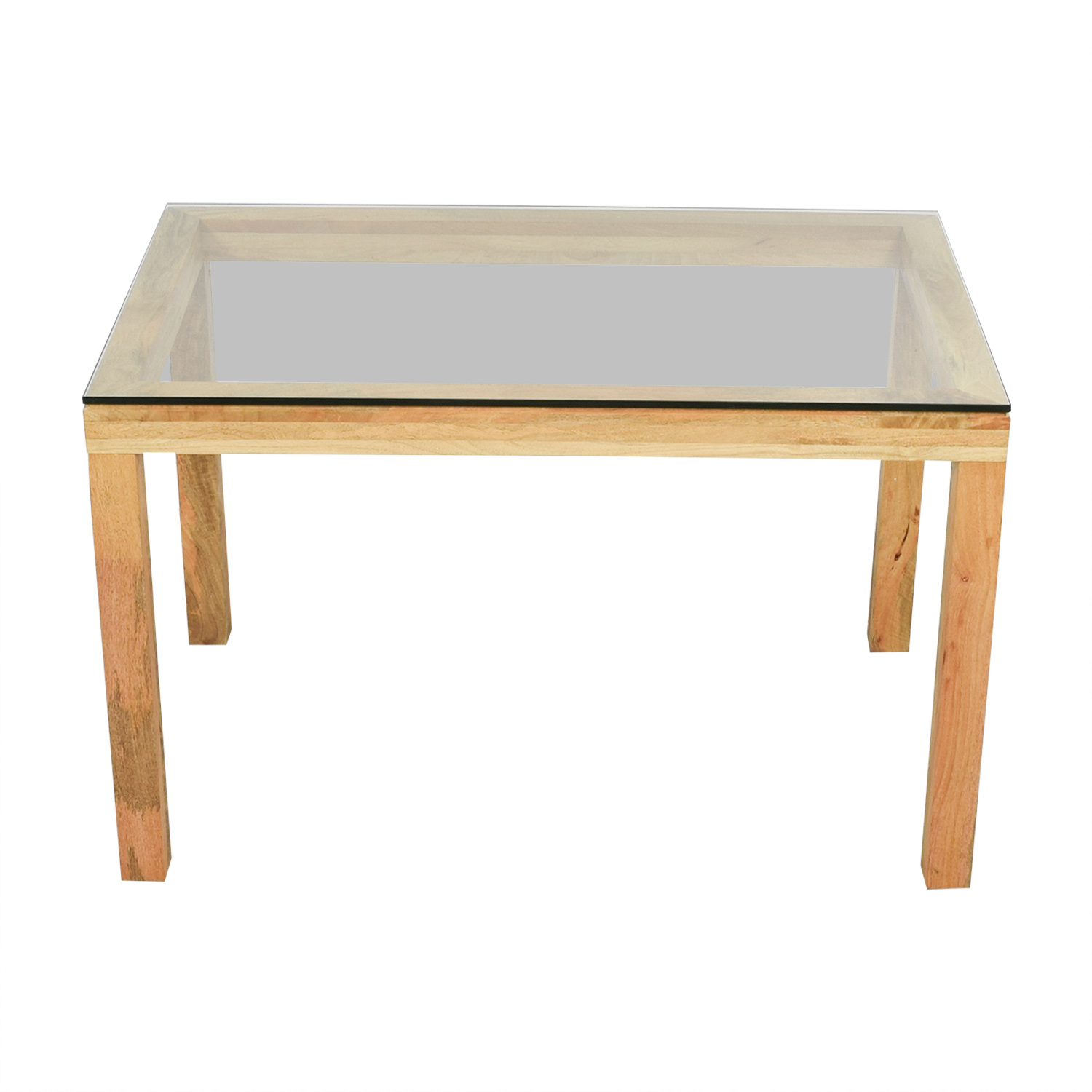 West Elm West Elm Wood and Glass Dining Table nyc