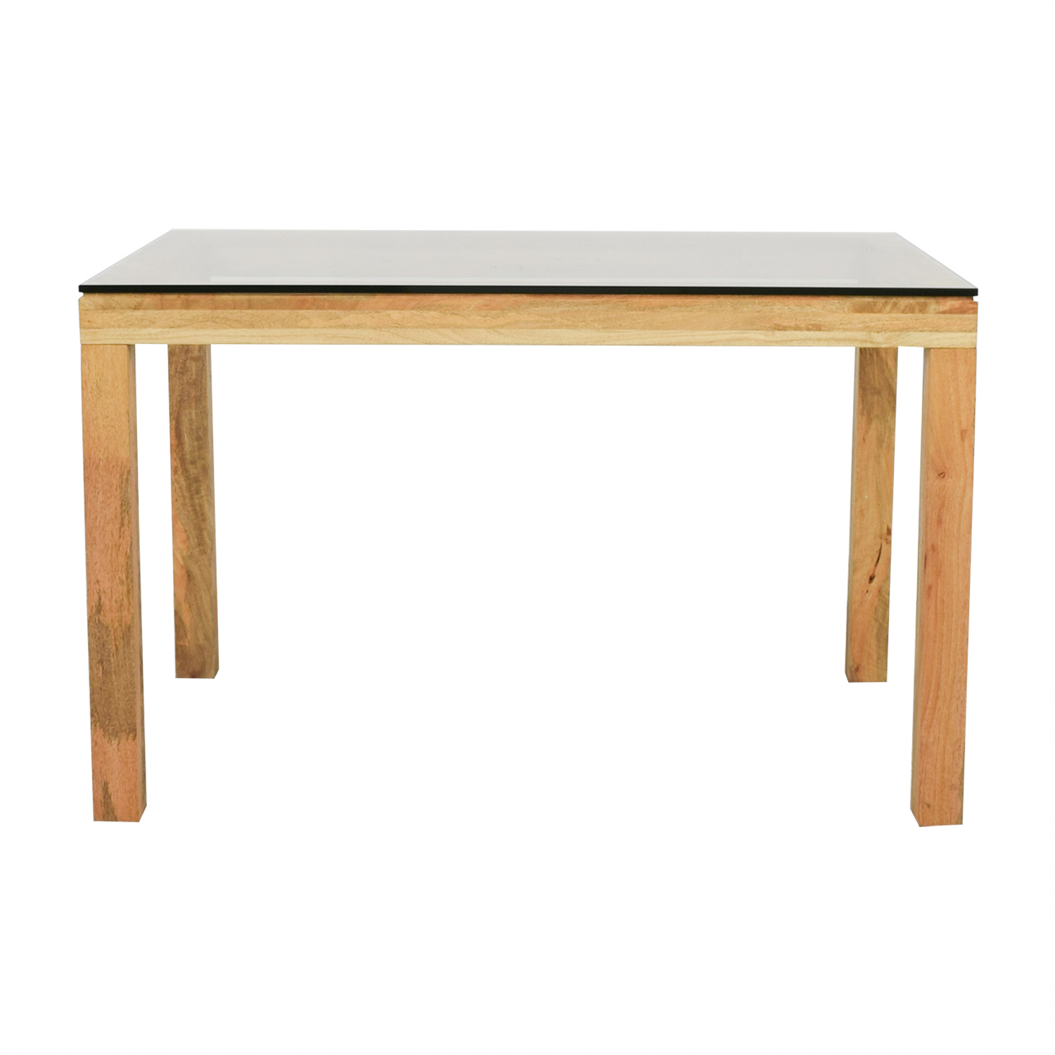 buy West Elm Wood and Glass Dining Table West Elm