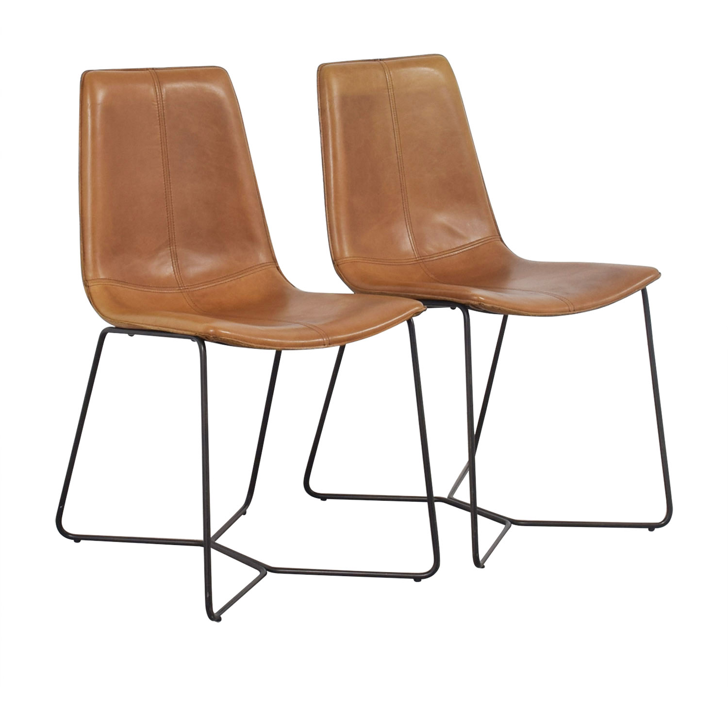 46 Off West Elm West Elm Leather Slope Dining Chairs