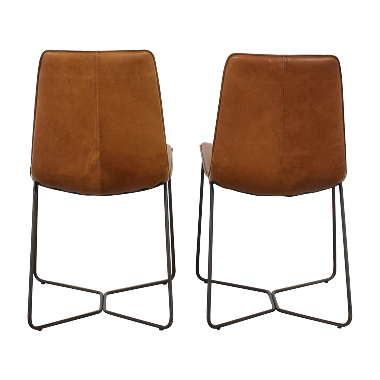 buy West Elm West Elm Leather Slope Dining Chairs online