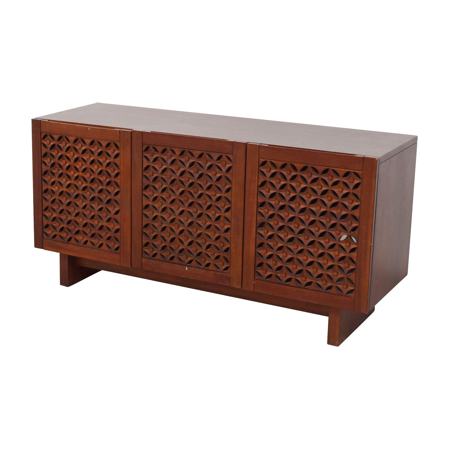 West Elm West Elm Carved Wood Media Console