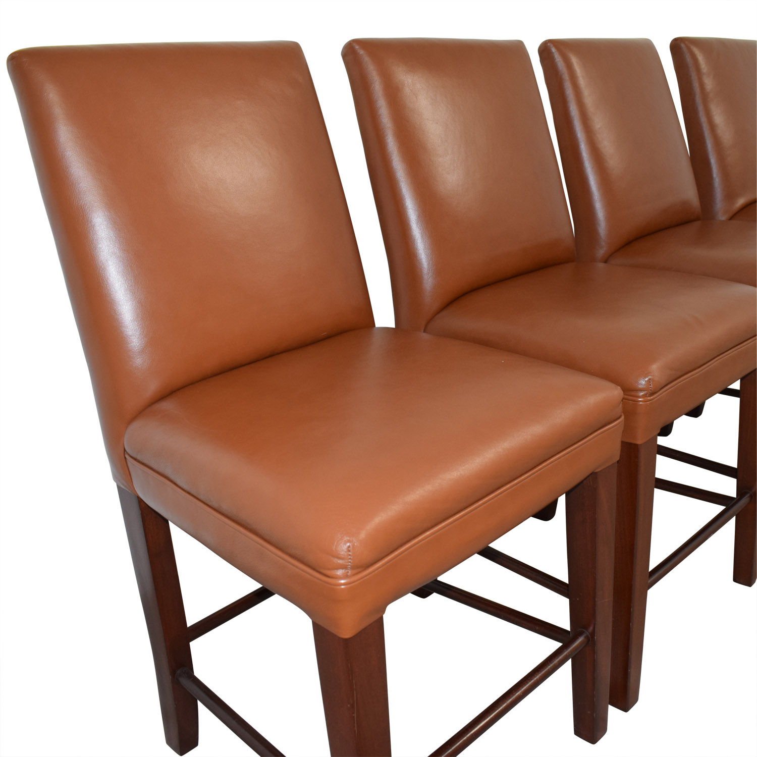 Cognac Leather Dining Chairs Chairs